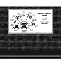 Mobile Phone Shop Advertising board vector image vector image