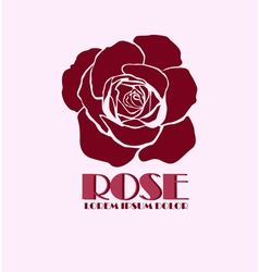 Rose logo design template vector image