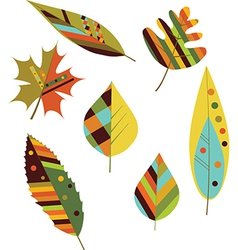 Seamless colourful autumn leaves vector