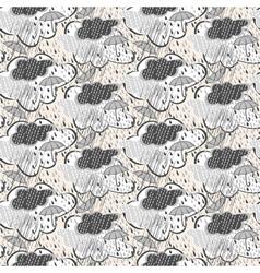 Seamless rain pattern vector image vector image