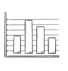 sketch of the bar chart vector image
