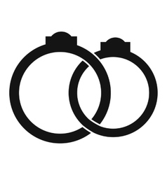 Wedding rings simple icon vector image
