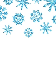 Winter background with blue snowflakes for new vector