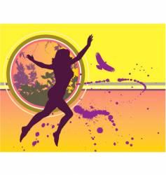 woman grunge bg vector image vector image