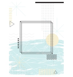 Abstract geometric background Design elements vector image