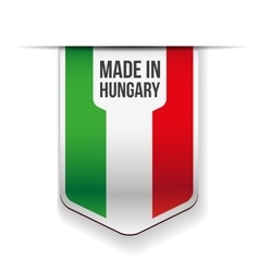 Made in hungary flag ribbon vector