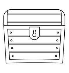 Chest icon outline style vector