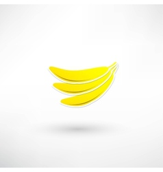 Yellow banana icon vector