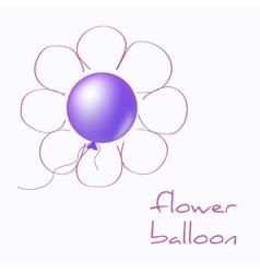 Flower balloon vector