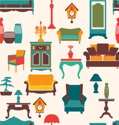 Vintage retro home living vector