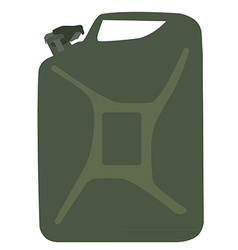 Green canister vector