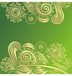 Floral pattern design element vector