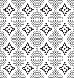 Seamless pattern of white circles with diamonds vector
