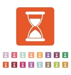 The hourglass icon chronometer and timer clock vector