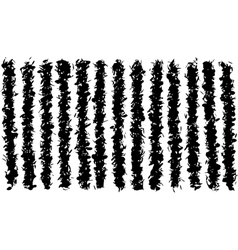 Grunge irregular black lines pattern over white vector