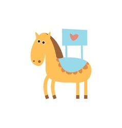 Cute horse with a sign for text vector