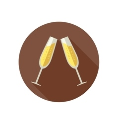 Clink glasses with champagne vector
