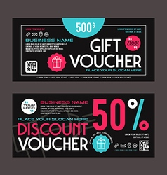 Discount and gift voucher template vector