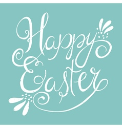 Easter wording on blue background vector