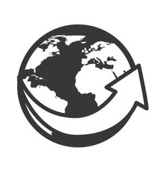 world planet earth arrow around icon vector image
