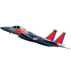 Jet fighter plane vector image
