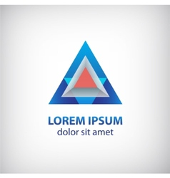 abstract 3d colorful modern triangle logo vector image