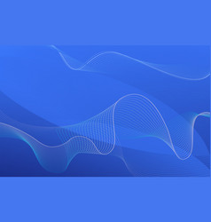 Background design with wavy lines on blue vector