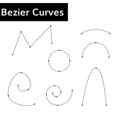 Bezier curves set vector