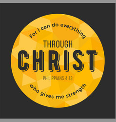 bible quote from philippians on polygon background vector image vector image