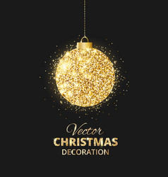 Black and gold christmas background with glitter vector