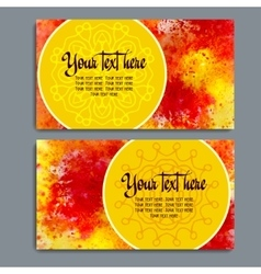 Business cards with watercolor background vector image vector image