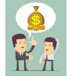 Businessmen discussion vector