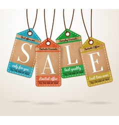 Cardboard price tags sale labels vector image vector image