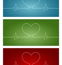 Cardiogram love vector