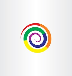 Colorful spiral design element icon logo vector