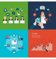 Concept of social media network project vector image