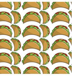 Delicious mexican tacos food background vector