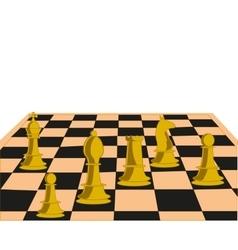 Desk play chess vector