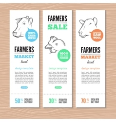 farm banners vector image