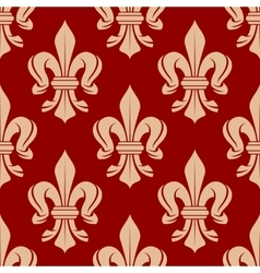 French floral seamless fleur-de-lis pattern vector