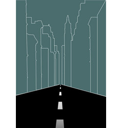 Line art of city street vector