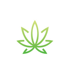 Lotus flower line beauty logo vector
