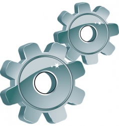 machine cogs vector image