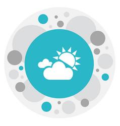 Of air symbol on sunlight fog vector