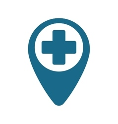 Pointer map hospital cross location vector