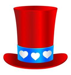 Saint Valentines hat vector image vector image