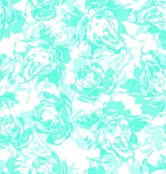 Seamless floral pattern with abstract blue roses vector image