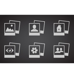 set photograph icons vector image vector image