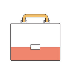 silhouette color section of executive briefcase vector image