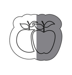 Silhouette differents apples icon vector